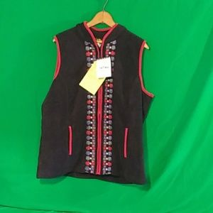 Bob Mackie wearable art large vest NWT